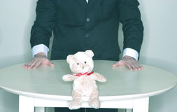 Business Teddy Bear Stock Image