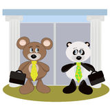 Business teddy bears. Royalty Free Stock Photo