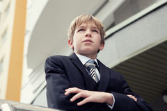 Business teenager looks forward Stock Photos