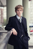 Business teenager looks forward Royalty Free Stock Photos