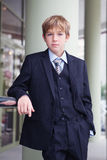 Business teenager looks forward royalty free stock photography