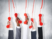 Business Telecommunication Conversation Red Phone Concept Royalty Free Stock Photography