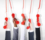 Business Telecommunication Conversation Red Phone Home Phone Con Royalty Free Stock Photography