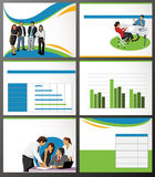 Business Template. Business Template with people and chart. Vector illustration Royalty Free Stock Photo