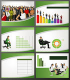 Business Template. Business Template with people and chart. Vector illustration Royalty Free Stock Images