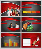 Business Template. Business Template with people and chart. Vector illustration Royalty Free Stock Image