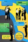 Business Template. Easy to edit vector illustration of business template royalty free illustration