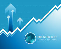 Business template background with logo and graph Stock Photography
