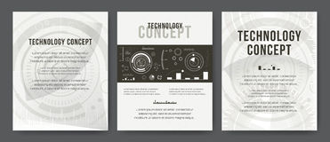 Business template. Brochure design, cover modern layout, annual report, poster, flyer. Abstract Modern Backgrounds. Mobile Technologies, Applications, Online Royalty Free Stock Images