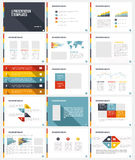 Business Template brochure Stock Image