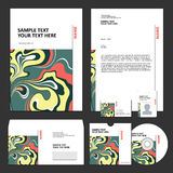 Business template. Business set. Royalty Free Stock Photo