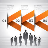 Business template with businessmen team Royalty Free Stock Photos