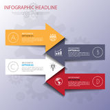Business template. Can be used for workflow layout, banner, diag Royalty Free Stock Photography