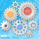 Business template. Circuit board with 3d gears. Infographic template. Vector Deisgn Stock Photography