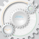 Business template. Circuit board with 3d gears. Infographic template. Vector Deisgn Stock Photos