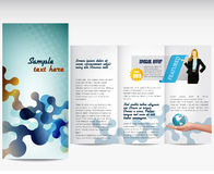 Business template or corporate brochure. Professional business template or corporate brochure Royalty Free Stock Photos