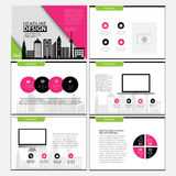 Business Template design set Presentation and brochure Annual report, flyer page with infographic element. vector illustration