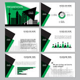 Business Template design set Presentation and brochure Annual report, flyer page with infographic element. Stock Image