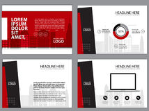 Business Template design set Presentation and brochure Annual report, flyer page with infographic element. Royalty Free Stock Photos
