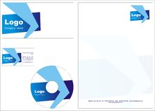 Business template design + vector file Royalty Free Stock Photography