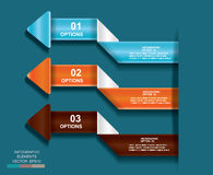 Business template graphic design element.infographic illustratio Royalty Free Stock Images