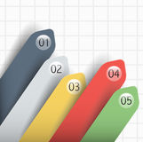 Business template infographic for data financial indicators of the company. Stock Image