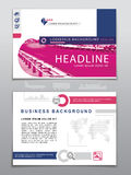 Business template. Logistics icons and map of the World. Used blue, grey, pink colors on white background. Realistic image as desi Stock Photography