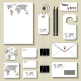 Business Template map Royalty Free Stock Images