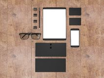 Business template. Mockup business template. High resolution Stock Images