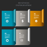 Business template, number paper, cut template. Conceptual creative template, infographic elements. Percent, economy, buy, dealers, business, plan, concept Stock Image