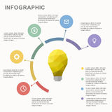 Business template, pie business chart, onceptual creative template, infographic elements Stock Photo