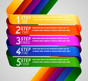 Business template. Business plane of five steps, infographic background Royalty Free Stock Photo