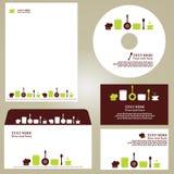 Business template,restaurant set. Business template, kitchen/restaurant/cafe set Stock Photo