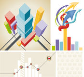 Business template set. Business template. Set elements of infographics Stock Images