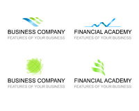 Business template set of logo signs Royalty Free Stock Image
