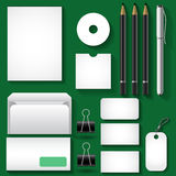 Business template. S on a dark green background Stock Image