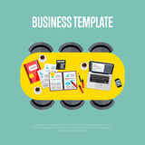 Business template. Top view of conference room. Stock Images