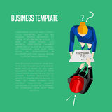 Business template. Top view of engineer builders Stock Image