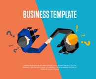 Business template. Top view partners handshaking Stock Photography
