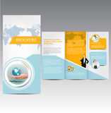 Business template. Vector Brochure Layout Design Template Stock Images