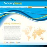 business template wave web Στοκ Φωτογραφίες