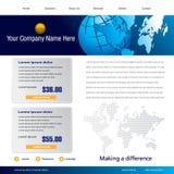 business template web Στοκ Φωτογραφίες