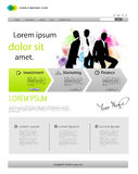 Business template web site stock illustration