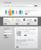 Business template web site. Vector template for your site Royalty Free Stock Photo