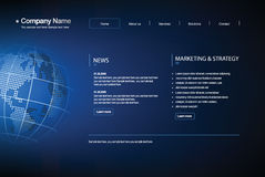 Business template web site. Royalty Free Stock Photos