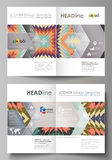 Business templates for bi fold brochure, flyer, booklet, report. Cover design template, abstract vector layout in A4 Stock Photography