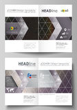 Business templates for bi fold brochure, flyer, booklet, report. Cover design template Stock Images