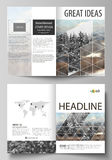 Business templates for bi fold brochure, flyer, booklet, report. Cover design template, vector layout in A4 size Royalty Free Stock Images