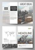 Business templates for bi fold brochure, flyer, booklet, report. Cover design template, vector layout in A4 size. Business templates for bi fold brochure vector illustration