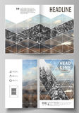 Business templates for bi fold brochure, flyer, booklet, report. Cover design template, vector layout in A4 size Royalty Free Stock Photos